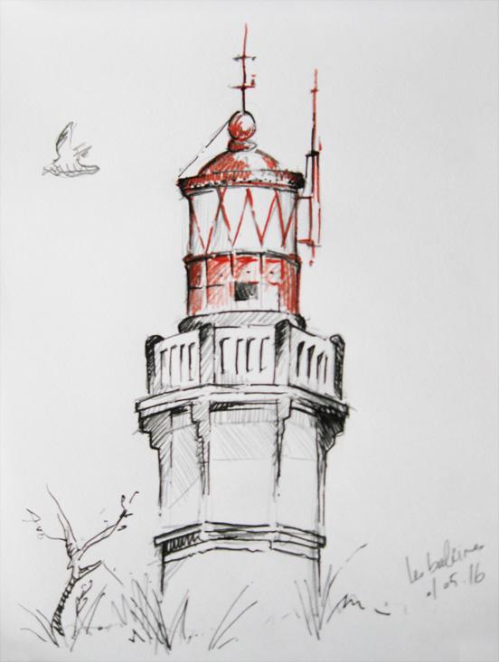 Le phare des baleines jordan graphic - Dessin de phare ...