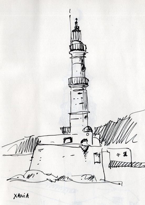 croquis-sketch-crete-jordan-gentes-chania-phare