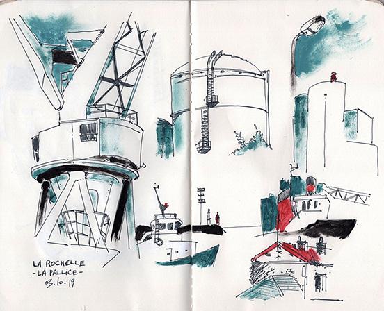 croquis sketch La Rochelle Port La Pallice