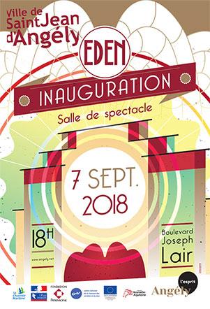 affiche-saint-jean-angely-inauguration-salle-EDEN-jordan-gentes