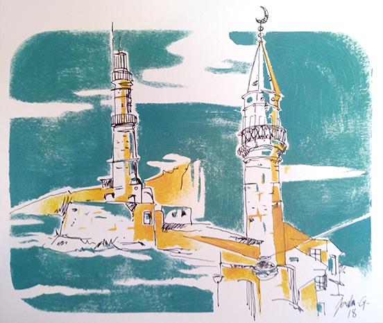 croquis-sketch-crete-jordan-gentes-chania-minaret-phare