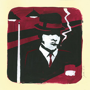 illustration gouache Smoking-blowers-jordan-gentes