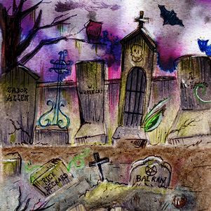 pocket-dungeon-dr-menrod-jordan-gentes-cimetiere-lovecraft-aquarelle