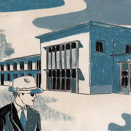 Illustration encre de chine et gouache jordan gentes