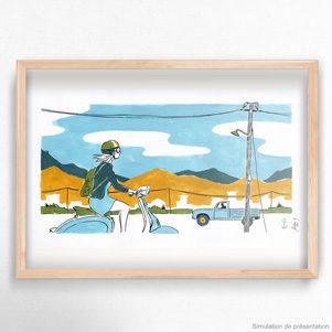 scooter_crete_illustration_encre_gouache_jordan_gentes-vignette