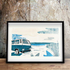 fin-de-journee-plage-vwt3-illustration-gouache-jordan-gentes
